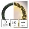 Kép 6/10 - EMOS LED karácsonyi nano fényfüzér, zöld, 15 m, meleg fehér, időzítő, IP44