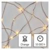 Kép 3/10 - EMOS LED karácsonyi nano fényfüzér, 1.9 m, 2x AA, beltéri, meleg fehér, időzítő
