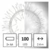 Kép 1/10 - EMOS LED karácsonyi nano fényfüzér süni, 2.4 m, 3x AA, beltéri, hideg fehér, időzítő
