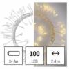 Kép 1/10 - EMOS LED karácsonyi nano fényfüzér süni, 2.4 m, 3x AA, beltéri, meleg fehér, időzítő