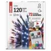 Kép 4/6 - EMOS LED karácsonyi fényfüzér, 12 m, RGB, távirányító, programok, időzítő, IP44
