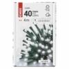 Kép 5/10 - EMOS LED karácsonyi fényfüzér, 4 m, hideg fehér, időzítő, IP44