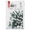 Kép 5/10 - EMOS LED karácsonyi fényfüzér, 8 m, hideg fehér, időzítő, IP44