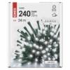 Kép 5/10 - EMOS LED karácsonyi fényfüzér, 24 m, hideg fehér, időzítő, IP44