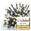 Kép 4/9 - EMOS LED karácsonyi fényfüzér, pulzáló, 12 m, meleg/hideg fehér, időzítő, IP44
