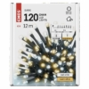 Kép 6/9 - EMOS LED karácsonyi fényfüzér, pulzáló, 12 m, meleg/hideg fehér, időzítő, IP44