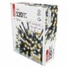 Kép 7/9 - EMOS LED karácsonyi fényfüzér, pulzáló, 12 m, meleg/hideg fehér, időzítő, IP44