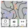 Kép 1/10 - EMOS LED karácsonyi fényfüzér, 4 m, többszínű, időzítő, IP44