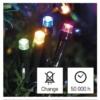 Kép 8/10 - EMOS LED karácsonyi fényfüzér, 4 m, többszínű, időzítő, IP44