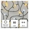 Kép 1/8 - EMOS LED karácsonyi fényfüzér, villogó, 8 m, meleg/hideg fehér, időzítő, IP44