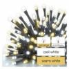 Kép 3/8 - EMOS LED karácsonyi fényfüzér, villogó, 8 m, meleg/hideg fehér, időzítő, IP44