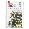 Kép 5/8 - EMOS LED karácsonyi fényfüzér, villogó, 8 m, meleg/hideg fehér, időzítő, IP44