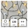 Kép 1/8 - EMOS LED karácsonyi fényfüzér, villogó, 12 m, meleg/hideg fehér, időzítő, IP44