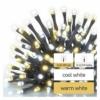 Kép 3/8 - EMOS LED karácsonyi fényfüzér, villogó, 12 m, meleg/hideg fehér, időzítő, IP44