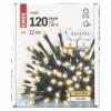 Kép 5/8 - EMOS LED karácsonyi fényfüzér, villogó, 12 m, meleg/hideg fehér, időzítő, IP44