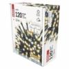 Kép 6/8 - EMOS LED karácsonyi fényfüzér, villogó, 12 m, meleg/hideg fehér, időzítő, IP44