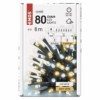 Kép 5/7 - EMOS LED karácsonyi fényfüzér, 8 m, meleg/hideg fehér, időzítő, IP44