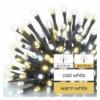 Kép 3/7 - EMOS LED karácsonyi fényfüzér, 12 m, meleg/hideg fehér, időzítő, IP44
