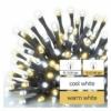 Kép 3/7 - EMOS LED karácsonyi fényfüzér, 18 m, meleg/hideg fehér, időzítő, IP44