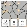 Kép 1/10 - EMOS LED karácsonyi fényfüzér, 8 m, vintage, időzítő, IP44