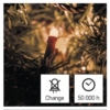 Kép 8/10 - EMOS LED karácsonyi fényfüzér, 8 m, vintage, időzítő, IP44