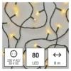 Kép 1/10 - EMOS LED karácsonyi fényfüzér, 8 m, meleg fehér, időzítő, IP44