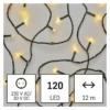 Kép 1/10 - EMOS LED karácsonyi fényfüzér, 12 m, meleg fehér, időzítő, IP44