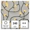 Kép 1/10 - EMOS LED karácsonyi fényfüzér, 24 m, meleg fehér, időzítő, IP44