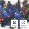 Kép 8/10 - EMOS LED karácsonyi fényfüzér süni, 8 m, többszínű, időzítő, IP44