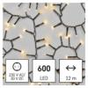 Kép 1/10 - EMOS LED karácsonyi fényfüzér süni, 12 m, meleg fehér, időzítő, IP44