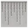 Kép 2/10 - EMOS LED karácsonyi jégcsapok, 3.6 m, hideg fehér, programokkal, IP44