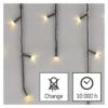 Kép 6/10 - EMOS LED karácsonyi jégcsapok, 10 m, meleg fehér, programokkal, IP44