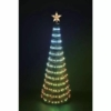 Kép 1/2 - EMOS LED karácsonyfa fényfüzérrel és csillaggal, 1.8 m, távirányító, időzítő, RGB, IP44