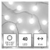 Kép 2/10 - EMOS LED fényfüzér, cseresznye golyók 2.5 cm, 4 m, hideg fehér, időzítő, IP44