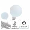 Kép 8/10 - EMOS LED fényfüzér, cseresznye golyók 2.5 cm, 4 m, hideg fehér, időzítő, IP44