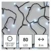 Kép 1/10 - EMOS LED karácsonyi fényfüzér, cseresznye  golyók, 8 m, hideg fehér, időzítő, IP44