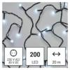 Kép 1/10 - EMOS LED karácsonyi fényfüzér, cseresznye  golyók, 20 m, hideg fehér, időzítő, IP44