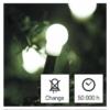 Kép 8/10 - EMOS LED karácsonyi fényfüzér, cseresznye  golyók, 20 m, hideg fehér, időzítő, IP44