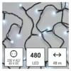 Kép 1/10 - EMOS LED karácsonyi fényfüzér, cseresznye  golyók, 48 m, hideg fehér, időzítő, IP44