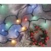 Kép 9/10 - EMOS LED karácsonyi fényfüzér, cseresznye golyók, 20 m, többszínű, időzítő, IP44