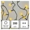 Kép 1/10 - EMOS LED karácsonyi fényfüzér, cseresznye golyók, 20 m meleg fehér, időzító, IP44