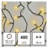 Kép 1/10 - EMOS LED karácsonyi fényfüzér, cseresznye golyók, 48 m meleg fehér, időzító, IP44