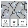 Kép 1/9 - EMOS LED karácsonyi fényfüzér, cseresznye golyók, 2.5 m, beltéri, hideg fehér