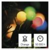 Kép 7/9 - EMOS LED karácsonyi fényfüzér, cseresznye golyók, 10 m, beltéri, többszínű
