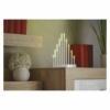 Kép 4/5 - EMOS LED gyertyatartó, fehér, 24,5 cm, 3x AA, beltéri, meleg fehér, időzítő