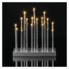 Kép 4/6 - EMOS LED gyertyatartó, ezüst, 28,5 cm, 3x AA, beltéri, meleg fehér, időzítő