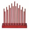 Kép 1/6 - EMOS LED gyertyatartó, piros, 28,5 cm, 3x AA, beltéri, meleg fehér, időzítő