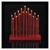 Kép 4/6 - EMOS LED gyertyatartó, piros, 28,5 cm, 3x AA, beltéri, meleg fehér, időzítő