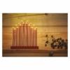 Kép 5/6 - EMOS LED gyertyatartó, piros, 28,5 cm, 3x AA, beltéri, meleg fehér, időzítő