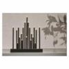 Kép 5/6 - EMOS LED gyertyatartó, fekete, 27,5 cm, 3x AA, beltéri, meleg fehér, időzítő